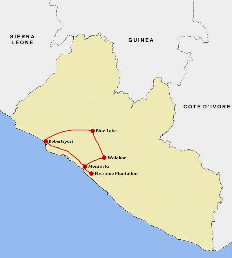 Want expeditions home liberia trip map freerunsca Gallery